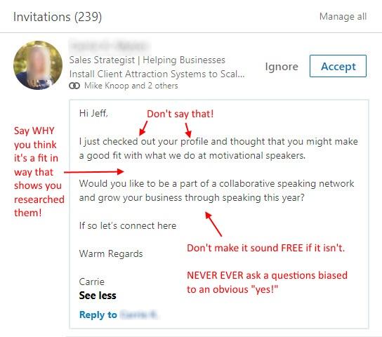 connection request sales